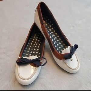 Sperry Chandler white patent loafers top s…